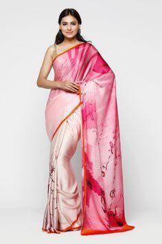 Wall Scribbles Saree Indian Silk Sarees, Indian Beauty Saree, Beautiful Saree, Beautiful Outfits, Shibori Sarees, Sabyasachi Sarees, Satin Saree, Kids Gown, Designer Sarees Online