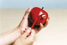 鉛筆削りのカスは、りんごの皮のよう。  http://matomeno.in/products/item-10126.html