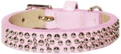 Domed Studs Straight Dog Collar Medium Size 1114 Pink with Domed Studs *** Read more reviews of the product by visiting the link on the image.Note:It is affiliate link to Amazon.