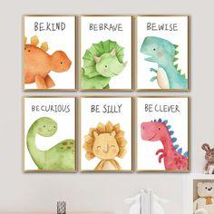 Kids Room Paint, Kids Room Wall Art, Nursery Wall Art, Kids Wall Decor, Baby Wall Art, Dinosaur Room Decor, Dinosaur Nursery, Dinosaur Kids Room, Painting For Kids