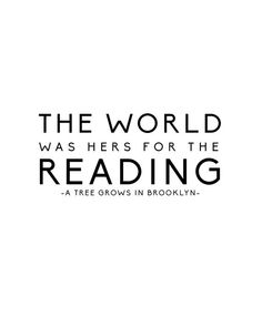 The+World+Was+Hers+For+the+Reading+A+Tree+Grows+by+MyFabulessLife,+$8.00
