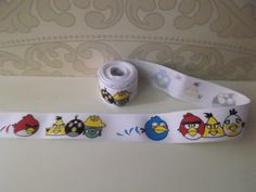 2 yards  1 angry birds grosgrain ribbon  by MagicalPrincess2012, $2.50