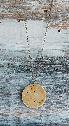 constellation pendant unisex gold brass. #accessories.
