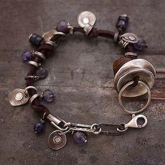 bursztyn i iolit II - cobalt blue ewa lompe biżuteria autorska .