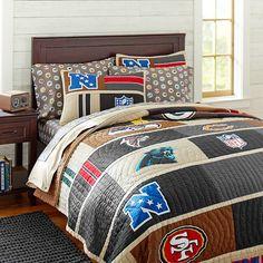 Guy's bedroom: 2013 NFL Quilt + Sham, NFC   PBteen