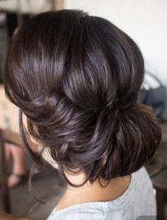 Soft curly updo