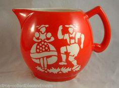MILK PITCHER Czech Pottery Polka Pattrn