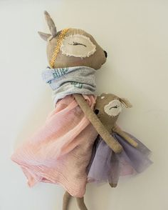 ❤︎ just_acorn fawn dolls Pet Toys, Doll Toys, Tilda Toy, Fabric Animals, Fabric Toys, Doll Maker, Sewing Toys, Reno, Soft Dolls