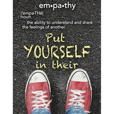 Empathy Poster Poster | Eureka School #EurekaPosters Inspirational Classroom Posters, Eureka School, Like A Boss, Poster On, Quotes For Kids, Self Esteem, Chuck Taylor Sneakers, Green Wallpaper, Growth Mindset