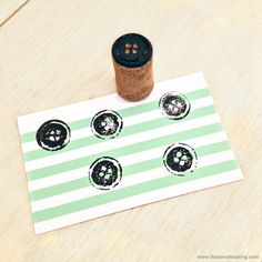 Tutorial: Wine Cork Button Stamp | Red-Handled Scissors