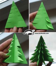leuke kerstboom uit papier