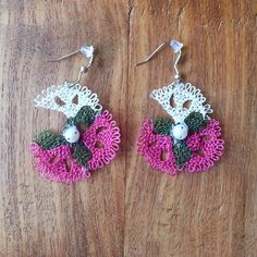 Turkish needle lace  earings...Make a difference in this summer.