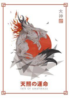 Okami - Feito obu Amaterasu by ~eepmun on deviantART