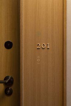 Door Signage, Hotel Signage, Wayfinding Signage, Signage Design, Hotel Corridor, Hotel Door, Door Dividers, Nordic Interior, The Way Home