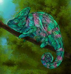 Camaleón Lámina