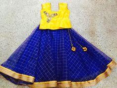 pattu pavadai designs for babies Baby Lehenga, Kids Lehenga, Kids Dress Wear, Kids Gown, Kids Frocks Design, Kids Lehanga Design, Baby Frocks Designs, Kids Blouse Designs, Kids Ethnic Wear