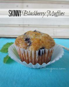 Skinny Blackberry Muffins on MyRecipeMagic.com