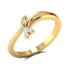 Agatha Diamond Studded Gold Ring