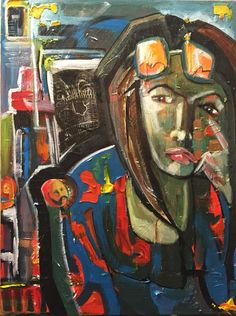 """Understanding The Artist's Frame Of Mind"" mixed media 2015"