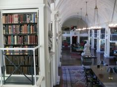 Inside the Boston Athenaeum in Boston MA