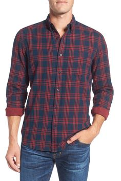 Men's Shop Spade Plaid Sport Shirt (Big)