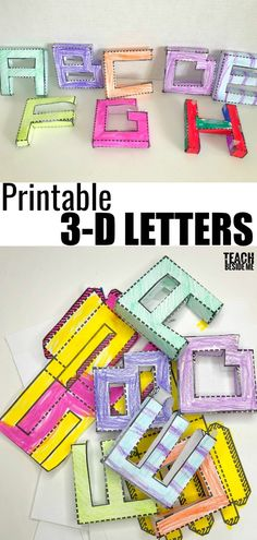 Come print this template to make your own alphabet. This is such a fun project for kids! Kids Learning Activities, Preschool Lessons, Alphabet Activities, Fun Learning, 3d Alphabet, Printable Alphabet, Teaching The Alphabet, Learning Letters, Preschool Letters