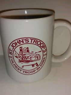 St Johns Troop Three Oldest in Iowa Boy Scouts Cub Collectible Coffee Mug