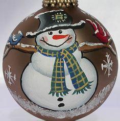 snowman ornament $10.00 celeste_luna_creations@hotmail.com