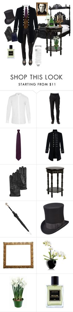 Dorian Gray by fmsgray on Polyvore featuring Yves Saint Laurent, Ermenegildo Zegna, Scala, Jardins D'Écrivains, Alexander McQueen, Eva Solo, Ziva, Fountain, men's fashion and menswear