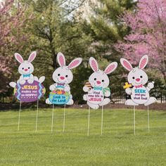 Religious Easter Yard Signs - OrientalTrading.com
