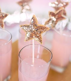 Add sparkle to your drink with these sequin stir sticks.
