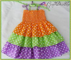 Spring and summer dress for little girls-Size 3T-4T(Available in size 6 month to 6 years) toddlers  for baby girls photo prop. $25.00, via Etsy.