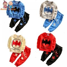 Fashion Spring Baby Suit Explosion Boy Bo Batman Suit Fashion Leisure Suits TST0283  Price: 10.88 & FREE Shipping  #fashion #sport #tech #lifestyle Spiderman Outfit, Batman Outfits, Cartoon Outfits, Batman Spiderman, Boy And Girl Cartoon, Baby Cartoon, Cute Cartoon, Toddler Boy Outfits, Kids Outfits