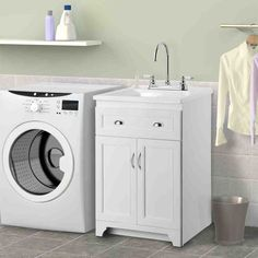 Home Depot Bathroom Design Elegant Home Depot Bathroom Vanities and Cabinets 1 H. Home Depot Bathr Small Utility Sink, Small Laundry Sink, Laundry Room Utility Sink, Small Sink, Laundry Room Cabinets, Utility Sinks, Basement Laundry, Bathroom Cabinets, Laundry Sinks