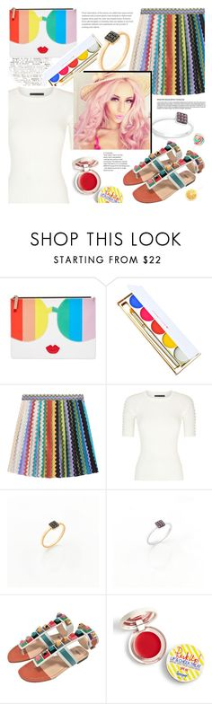 """Anastazio-Celebrate Pride Month!"" by anastazio-kotsopoulos ❤ liked on Polyvore featuring Alice + Olivia, Winky Lux, Missoni, Alexander Wang, Fendi, Supergoop! and pride"