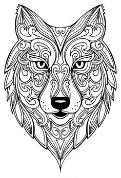 Wolf Adult Coloring Pages from Animal Coloring Pages category. Printable coloring pictures for kids you could print out and color. Have a look at our selection and printing the coloring pictures for free. Insect Coloring Pages, Mandala Coloring Pages, Animal Coloring Pages, Coloring Book Pages, Coloring Pages For Kids, Coloring Sheets, Kids Coloring, Coloring For Adults, Detailed Coloring Pages
