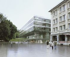 Courthouse Location: La Chaux-de-Fonds (Ch); Client: Canton de Neuchâtel; Size sqm: 7500; Mandatory Architect: Bruther; Open International Competition, 2012