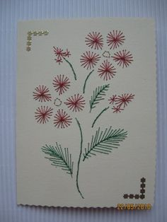 Stitching card - Flower by Janja Zomer