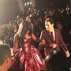 Naomi Campbell closed the Zac Posen show. She is a major supermodel and, if you hadn't noticed, is wearing a really amazing gown.   - ELLE.com