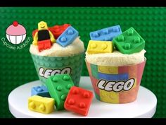 ▶ LEGO Cupcakes! How to Make Edible Lego for your Cakes and Cupcakes - by Cupcake Addiction - YouTube