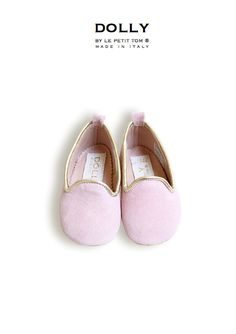 DOLLY by Le Petit Tom ® BABY Smoking Slippers 4SL pink suede