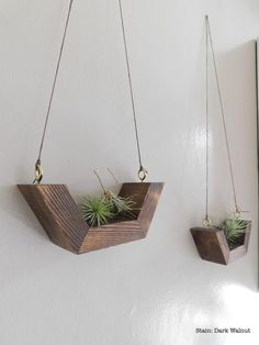 Airplant Wall Hanging – Wall Planter- Airplants – Wooden Airplant holders-Simple Wall Plant Hanging-Minimalist Decor-Rustic-Geometric Airplant Wall Decor These geometric shaped wooden wall hangings are [. Plant Wall Decor, Wooden Wall Decor, Wooden Walls, Wooden Shelves, Hanging Wall Planters, Hanging Shelves, Diy Wall Planter, Display Shelves, Creation Deco
