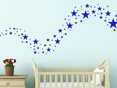 Gold Silver White Solid Stars Removable Wall Stickers Kids * ANY COLOUR* #Unbranded #WallDcor