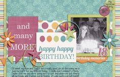 Pics For > Scrapbook Cover Page Designs For Birthday