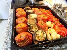 Cooking with Helen: Helen's Greek GEMISTA ... stuffed vegetables