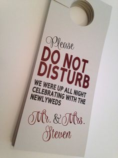 Hotel Hanging Door Sign/Tag Do Not Disturb the by DesignsByDVB
