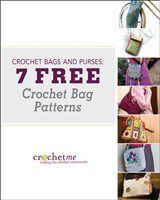 DIY Crochet Purses and Bags: 7 Free Crochet Bag Patterns Diy Crochet Purse, Free Crochet Bag, Crochet Purse Patterns, Crochet Books, Crochet Handbags, Crochet Purses, Bag Patterns, Crocheted Bags, Flower Crochet