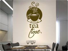 Wandtattoo Tea Time Home Decor, Wall Hanging Decor, Alcohol, Decorating Ideas, Decoration Home, Room Decor, Interior Decorating