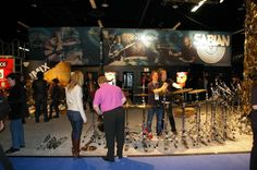 Tearing down the NAMM booth