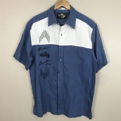 0549c96767f6d Men s Harley Davidson Mechanic Button Up Shirt Embroidered Large